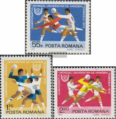 Romania 3244-3246 (complete.issue.) unmounted mint / never hinged 1975 Handball-