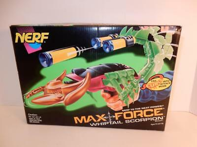 Nerf Gun Max Force Whiptail Scorpion 1995 Mib In Box Kenner