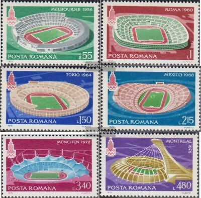 Romania 3625-3630 (complete.issue.) unmounted mint / never hinged 1979 Olympic S