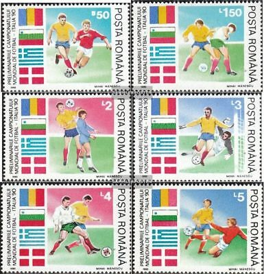 Romania 4586-4591 (complete.issue.) unmounted mint / never hinged 1990 Football