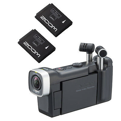 Zoom Q4n Handy Video Recorder with (2x) BT-02 Rechargeable Battery For Zoom Q4