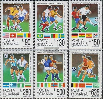 Romania 4992-4997 (complete.issue.) unmounted mint / never hinged 1994 Football