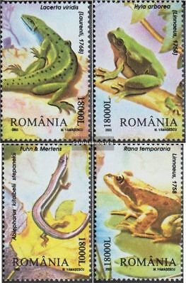 Romania 5764-5767 (complete.issue.) unmounted mint / never hinged 2003 Reptiles