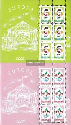 Romania 5657-5658 Sheetlet (complete.issue.) unmounted mint / never hinged 2002