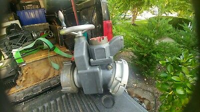 """Intake Gate Valve with Pressure Relief  Harrington INC  5"""" NH Female x 5"""" Storz"""