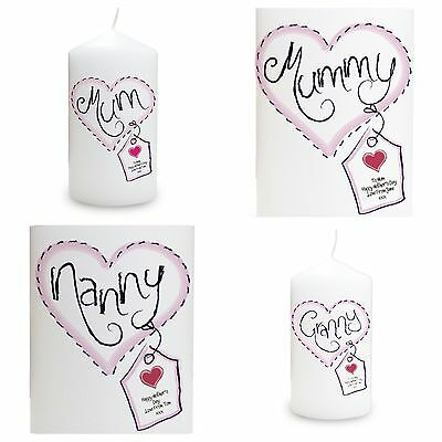 PERSONALISED CANDLE Birthday Mothers Day Christmas Gift Idea Mummy Granny Nanny
