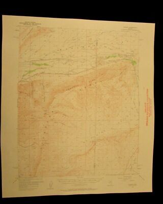 Dunphy Nevada 1961 vintage USGS Topographical chart map
