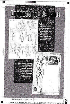 Vampirella Holy War/AshCan Exclusive One Only Page Layouts