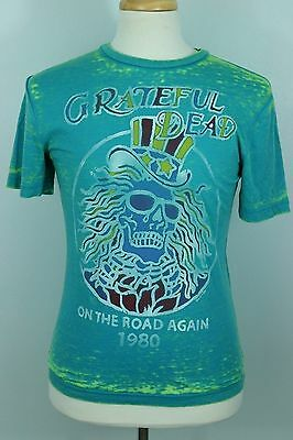 3c77dcad0c1 GRATEFUL DEAD S Acid Wash On The Road Again Replica 1980 Tee Shirt Skeleton