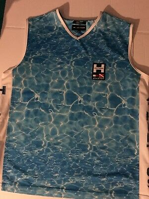 Vintage Tommy Hilfiger Athletics Jersey Tank Top Water Spell Out RARE Sz Large