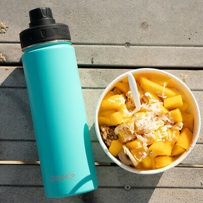 Vacuum Insulated Stainless Steel Sport Water Bottle,Wide Mouth, 20oz [Drinco]