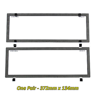 Number Plate Cover Standard Carbon Fibre Style Clear Pair 6SES QLD NSW VIC SA WA