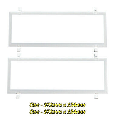 Number Plate Covers 6 Figure Standard WHITE Clear Pair 6NLW QLD NSW VIC SA WA NT