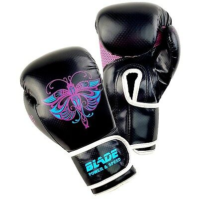 Blade Ladies Boxing Gloves Fitness MMA Punch Bag Mitts Leather Training Sparring