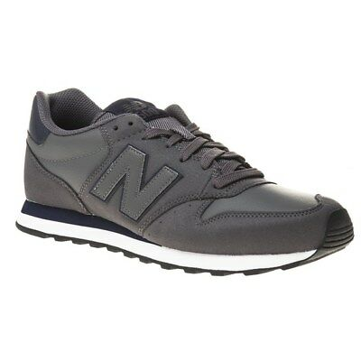 New Mens New Balance Grey 500 Synthetic Trainers Retro Lace Up