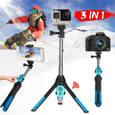 Universal Phone Selfie Stick Tripod bluetooth Remote Wireless For GoPro Camera