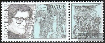 Slovakia 651Zf with zierfeld (complete.issue.) unmounted mint / never hinged 201