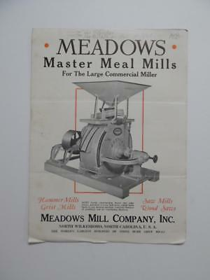c.1942 Meadows Mill Company Catalog Brochure North Wilkesboro NC Grist Vintage