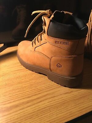 597dc5ba11a WOLVERINE CHEYENNE MENS Tan Leather Insulated Work/safety Boots Sz 11M
