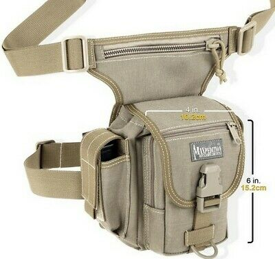 Maxpedition Thermite Versipack KHAKI Single Shoulder w/ Leg Strap Waist Bag