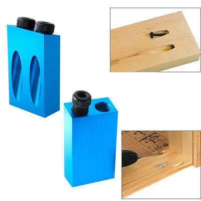Pocket Hole Screw Jig with Dowel Drill Set Carpenters Hole Guide Wood Joint Tool