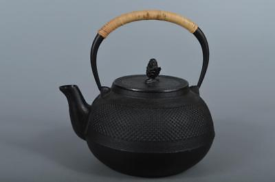 R4353: Japanese Iron Arare pattern TEA KETTLE Teapot Tetsubin, auto Tea Ceremony