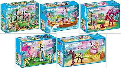 5 x Playmobil Fairies Magical Fairy Forest Ship Dragon Unicorn 9132 9133 9134 91