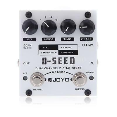 JOYO D-SEED Dual Channel Digital Delay Guitar Effect Pedal with Four Modes X7F8