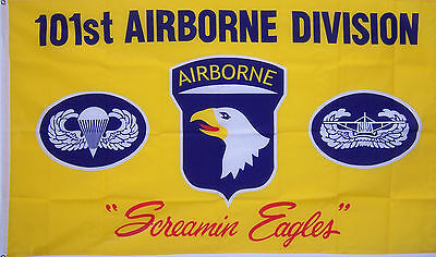 101st Airborne Division yellow Army New 3x5ft Flag better quality usa seller