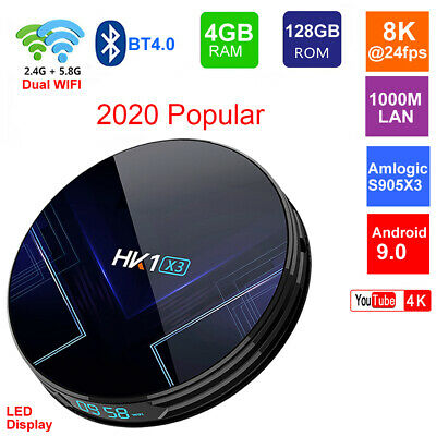 HK1 X3 Android 9.0 Smart TV BOX Amlogic S905X3 5G Wifi Media Player Set Top Box