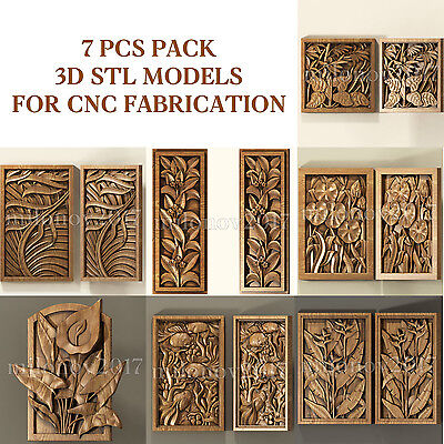 3d stl 7 PCS Model Relief for CNC Router Artcam Cut3d Aspire
