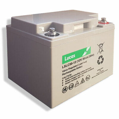Lucas 12V 50AH (replaces 40ah & 42ah) Mobility Scooter Battery    V