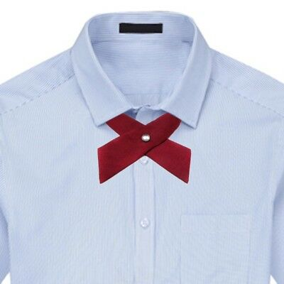 Adjustable School Girls Uniform Bow Students Bowknot Necktie Party Neck Tie New