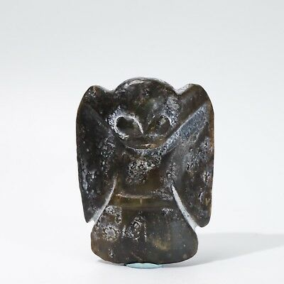 Chinese jade carved Hongshan culture style jade statue A4054