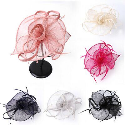 Feather Fascinator Hat Alice Headband Cocktail Party Top Hats Royal Ascot Races