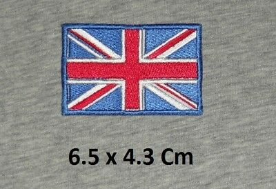 British Flag Union Jack Blue Border Iron/ Sew-on Embroidered Patch/ Badge