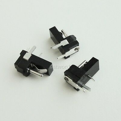 10pcs DC Power Jack Female Socket 1.3 x 3.5mm PCB Mount Right Angle Connector