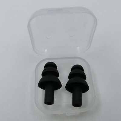 2x Anti Snore Noise Soft Silicon Ear Plugs Foam for Sleep Study Reusable UK