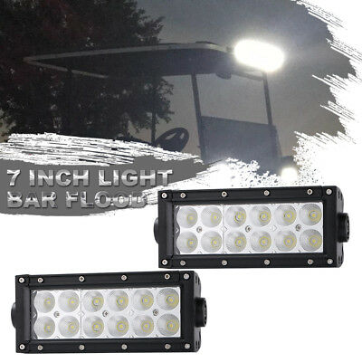 36W 7inch Bright Light flood LED Work Bar Driving Fog Offroad Car Lamp For Truck