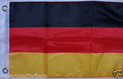 NEW 12x18 GERMAN GERMANY BOAT FLAG WITH BRASS GROMMETS USA seller