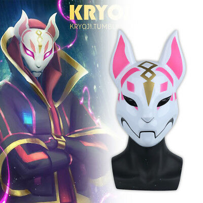 Cosplay Game Fortnite Fox Mask Halloween Fox Drift Mask Handmade Mask Prop New