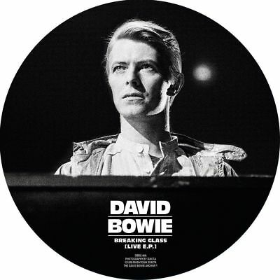 """David Bowie: Breaking Glass (Live EP) 40th Anniversary Picture Disc Vinyl 7"""""""