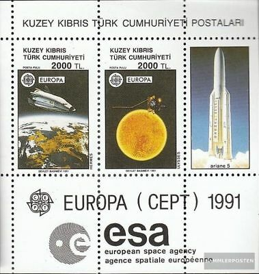 Turkish-Cyprus block9 (complete.issue.) unmounted mint / never hinged 1991 Space