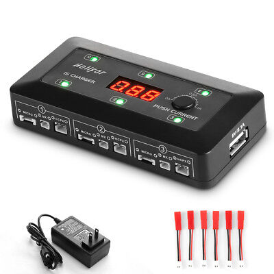 4 in 1 3.7V 1S Lipo Battery Multi Ports Balance Charger Accessory for RC Drones