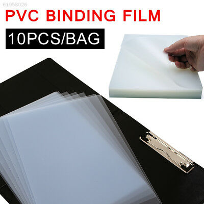 C3AA Office File Book Binding Cover Thin Plastic 10pcs/Bag Document Sleeves