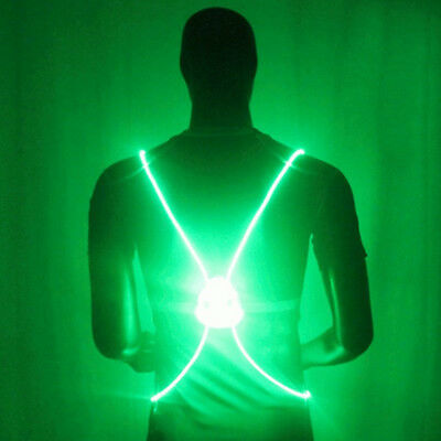 LED Flash Reflective Safety Belt Vest Strap Band Night Running Cycling Glow