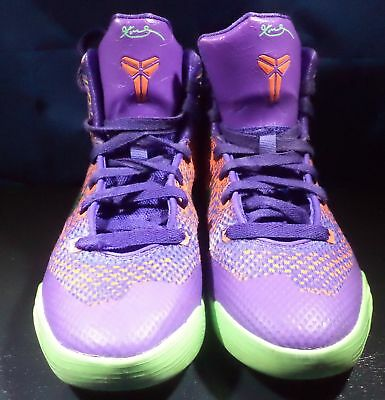323759f548ba Nike Kid s Kobe IX Elite GS Purple Venom Vivid Pink Orange Size 5Y  636602-500