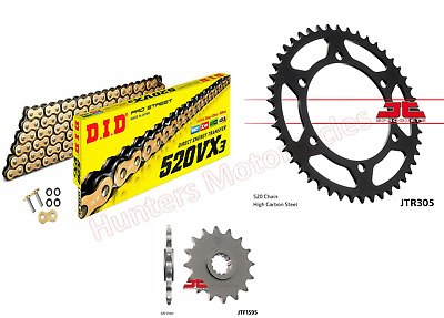Yamaha XJ6 DID Gold X-Ring Chain & JT Sprockets Kit Set (2009 to 2014)