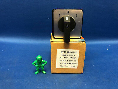 LW28-32/D303.3 3-Position, 3-Phase Universal Rotary Cam Changeover Switch AC600V