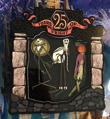 Disney Nightmare Before Christmas 25 Years Of Fright 3 Pin Set LE 1500 Jack Set